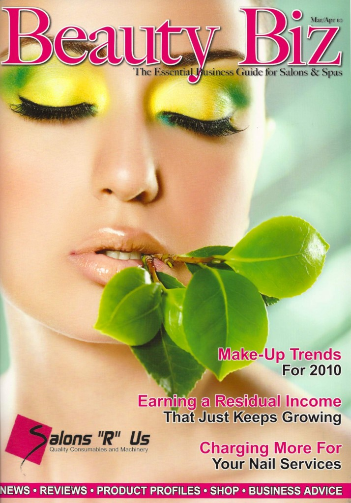 Beauty Biz magazine front cover